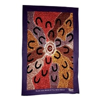 Tea Towel - Crow Women Dreaming (red)