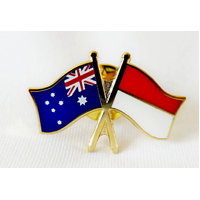 Australia Flag Indonesia Flag Lapel Pin