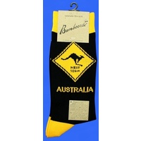 Kangaroo Road Sign Socks